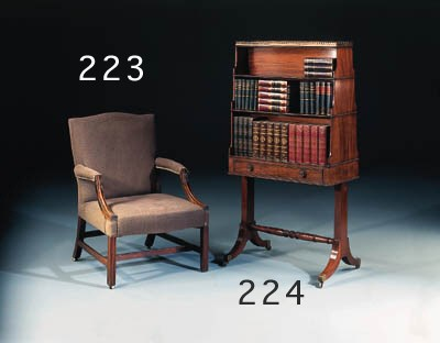 A MAHOGANY BOOKSTAND, 20TH CEN