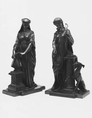 A bronze figure of Diana, late