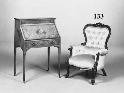 A Victorian mahogany framed ea