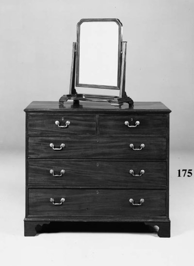 A mahogany chest, 19th century