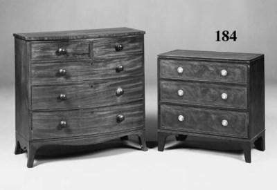 A mahogany and boxwood banded