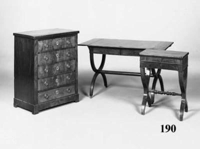 A Charles X mahogany work tabl