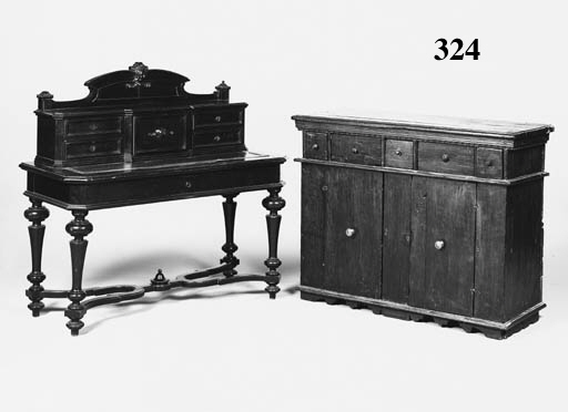 AN ITALIAN WALNUT BUFFET, 19TH