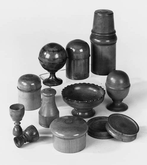 A collection of treen pharmace