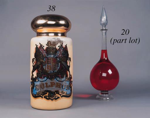 A glass specie jar,