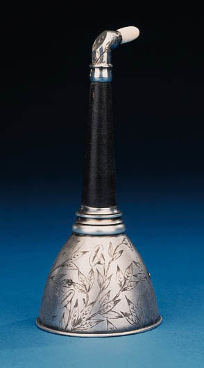 A fine silver-plated, leather-