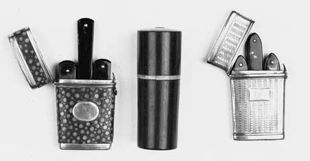 A fine silver-mounted shagreen lancet etui,
