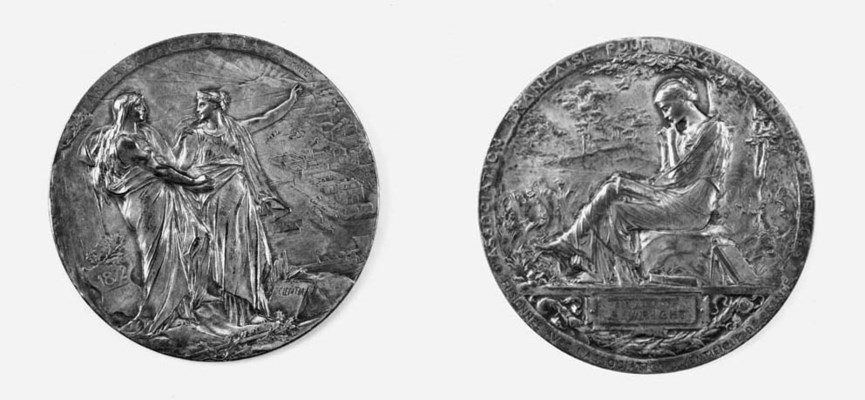 A French silvered bronze comme