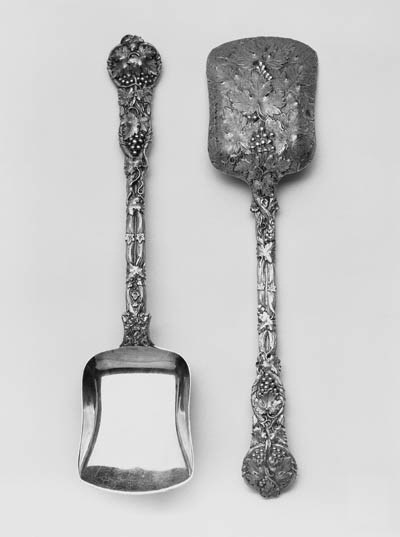 A CAST PAIR OF VICTORIAN FRUIT