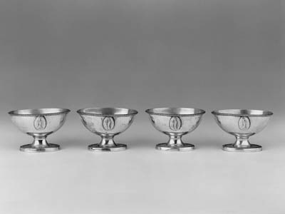 A SET OF FOUR LATE 18TH CENTUR