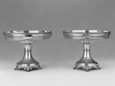 A PAIR OF LATE VICTORIAN TAZZA