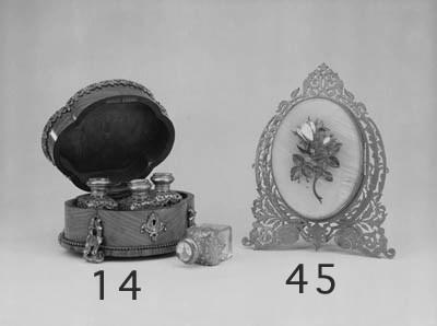 A Victorian gilt-brass, onyx a