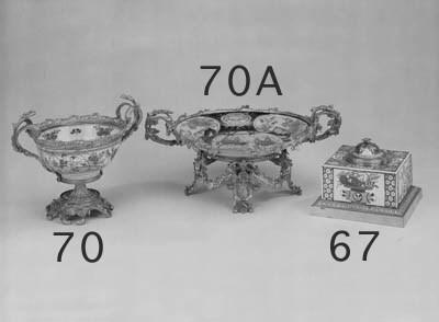A gilt bronze mounted porcelai