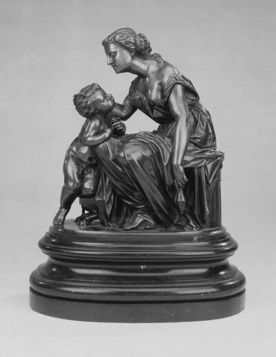 A French bronze figural group,