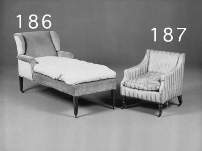 A Victorian mahogany and uphol