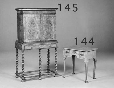 A WALNUT LOWBOY, MID 18TH CENT