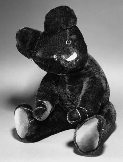 AN UNUSUAL BLACK TEDDY BEAR