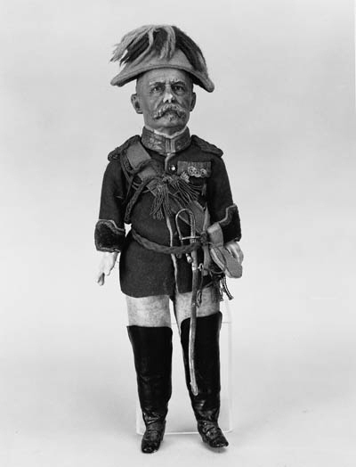 A DOLL MODELLED AS LORD ROBERT