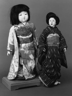 TWO JAPANESE DOLLS