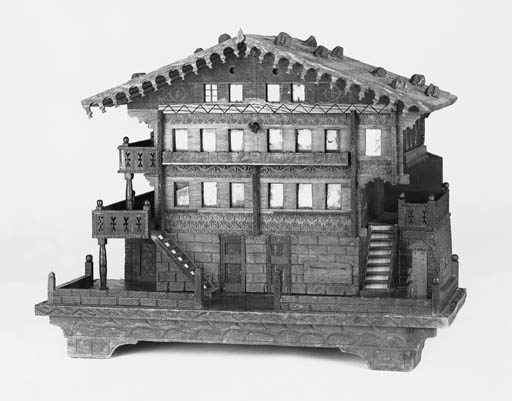A Swiss chalet musical box,