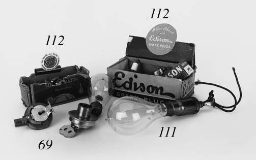 An early Edison electric lamp,