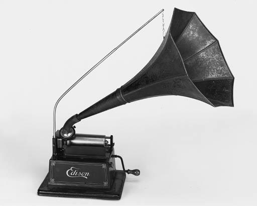 An Edison red Gem phonograph,
