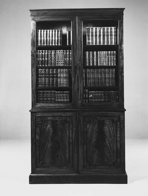A Victorian mahogany library b