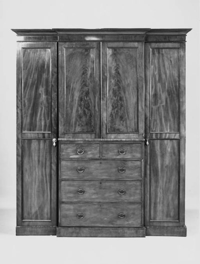 An early Victorian mahogany br