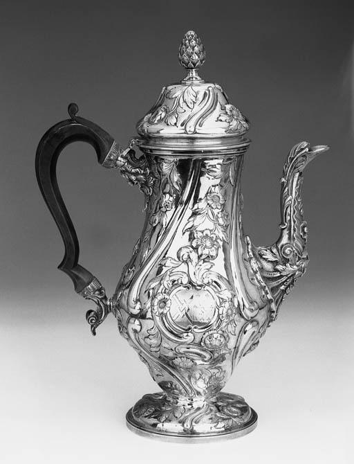 A GEORGE IV COFFEE POT