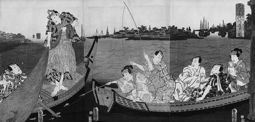 TOYOKUNI, AN OBAN TRIPTYCH