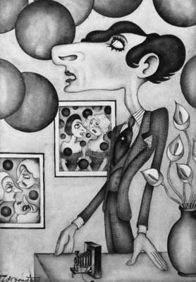 Cecil Beaton cartoon
