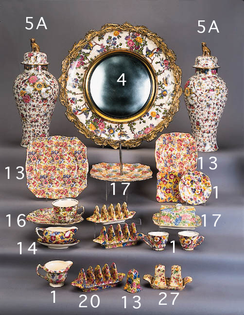 A Royal Staffordshire wall mirror