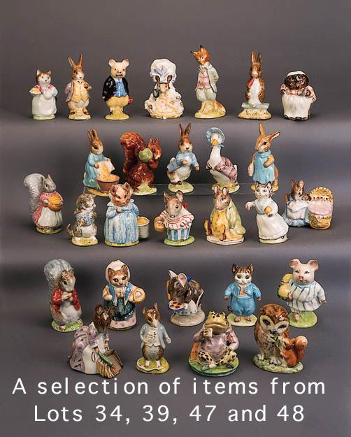 'Pigling Bland', 'Mrs Tittlemouse', 'Hunca Munca', 'Tabitha Twitchett', 'Lady Mouse', 'Mrs Flopsy Bunny', 'Fierce Bad Rabbit', 'Ribby', 'Samuel Whiskers', 'Mrs Tiggy Winkle' and 'Squirrel Nutkin'