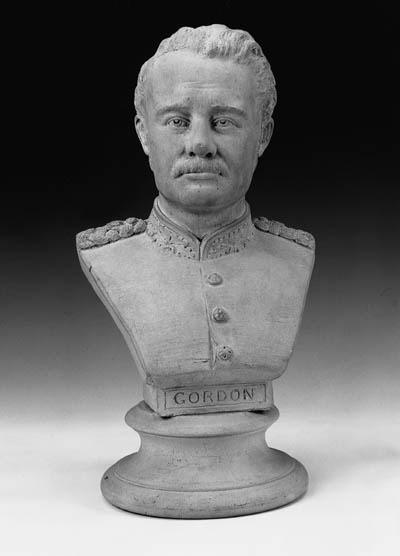 A terracotta bust