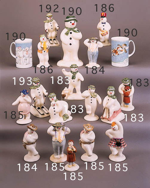 'The Snowman Tabogganing', 'Building The Snowman', 'Thank You Snowman', 'The Snowman' and 'The Snowman Snowballing'