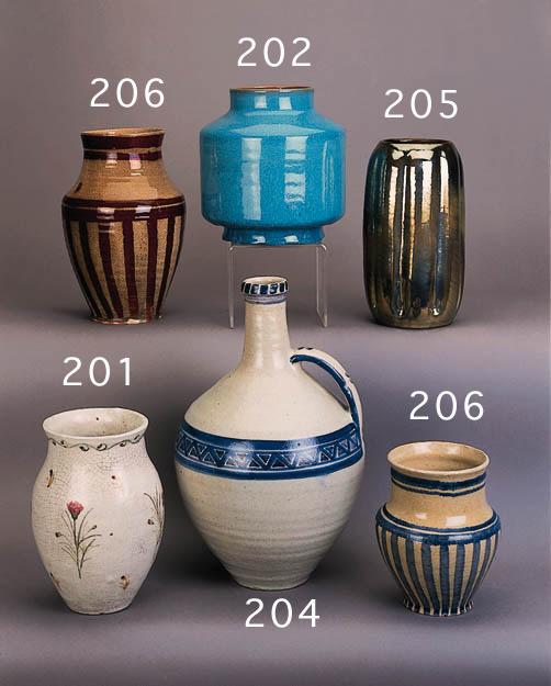 A Carter cylindrical vase