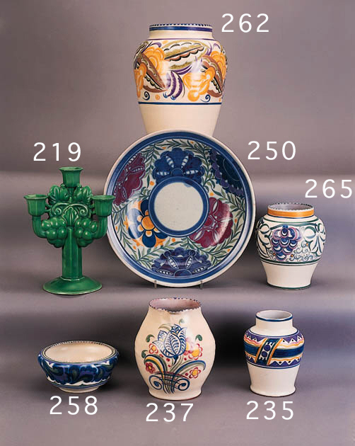 A Carter, Stabler, Adams shouldered cylindrical vase
