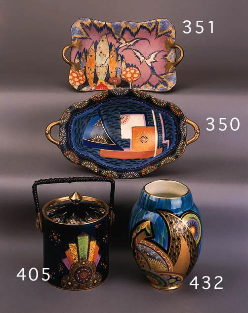A Handcraft twin-handled pedestal bowl