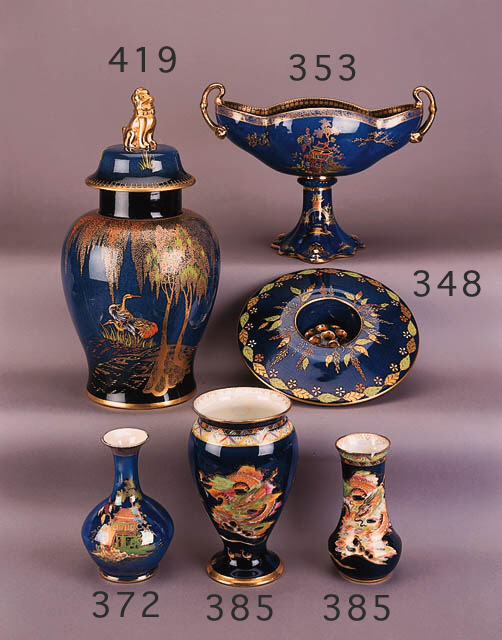 A baluster vase and cover