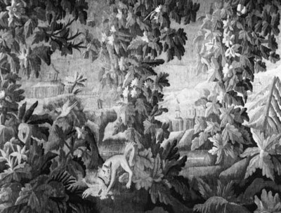 A Flemish verdure tapestry wov