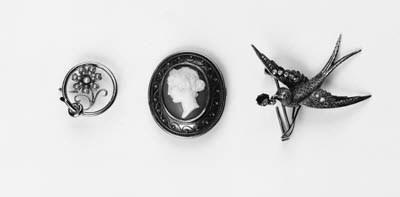 Three 19th Century brooches: