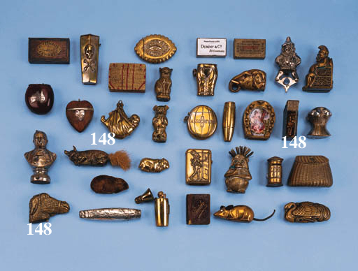 A Group of Brass Figurals,
