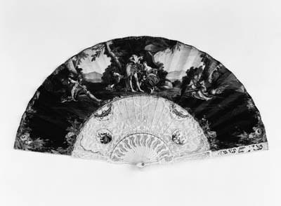 Bacchus, a fan, the leaf paint