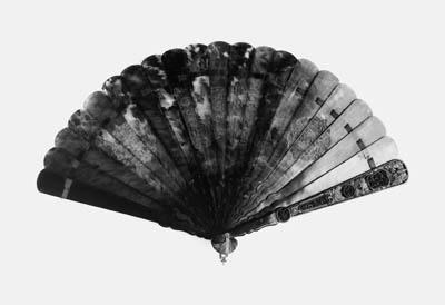A rare tortoiseshell brise fan