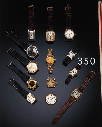 Cartier, a lady's gold tonneau