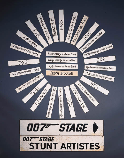 007 PRODUCTION SIGNS