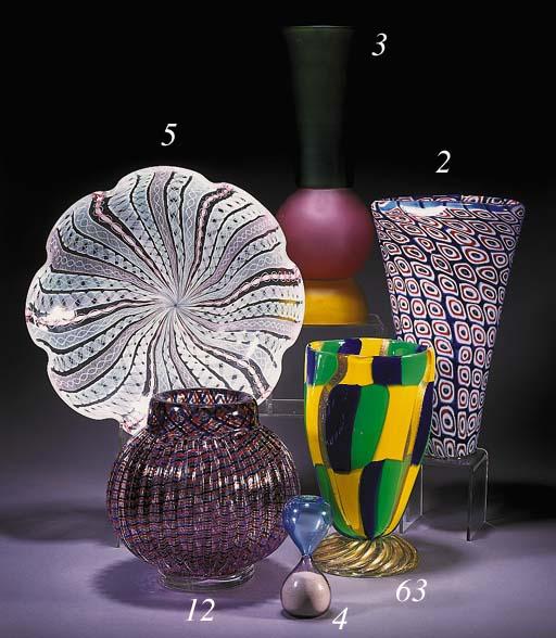 A Venini glass egg-timer