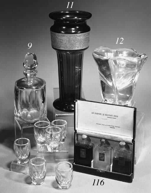 An Art Deco liqueur set
