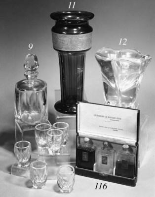 An Austrian glass vase