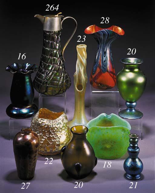 An German iridescent glass vas